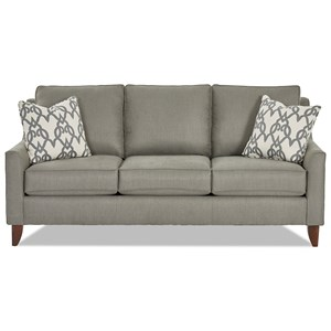Klaussner Belton Casual Sofa With Track Arms Johnny