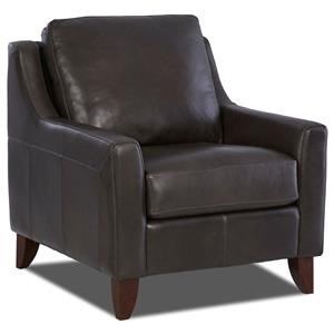 Casual Leather Chair w/Track Arms