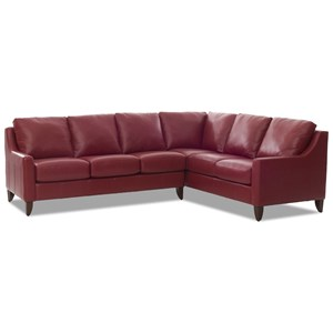 Casual 5 Seat Sectional with Track Arms
