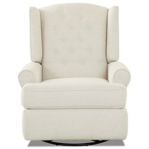 Traditional Tufted Wing Back Reclining Chair