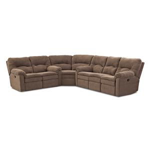 Klaussner Bennington 3 Piece Power Reclining Sectional Sofa