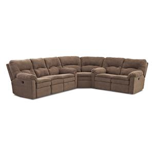 Klaussner Bennington Casual 3 Piece Power Reclining Sectional Sof