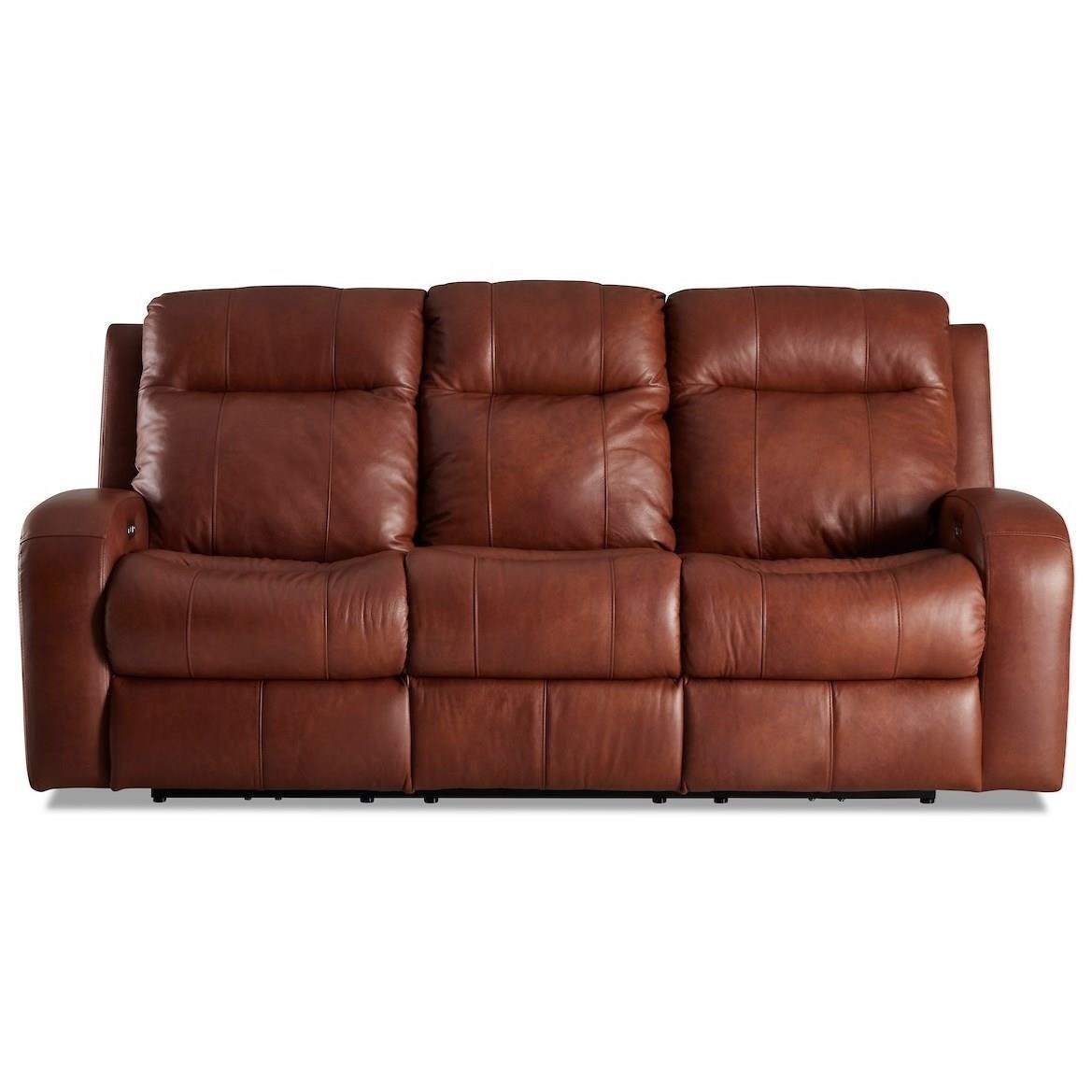 Benson Power Reclining Sofa w/ Power Headrests by Klaussner at Northeast Factory Direct