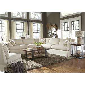 Klaussner Bentley Casual Sectional Sofa