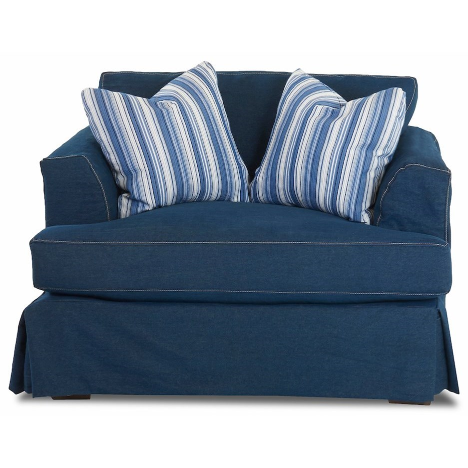 Bentley Slipcover Chair by Klaussner at Northeast Factory Direct