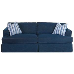 Slipcover Sofa with Flared Track Arms