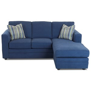 Chaise Sleeper Sofa with Queen Size Air Coil Mattress