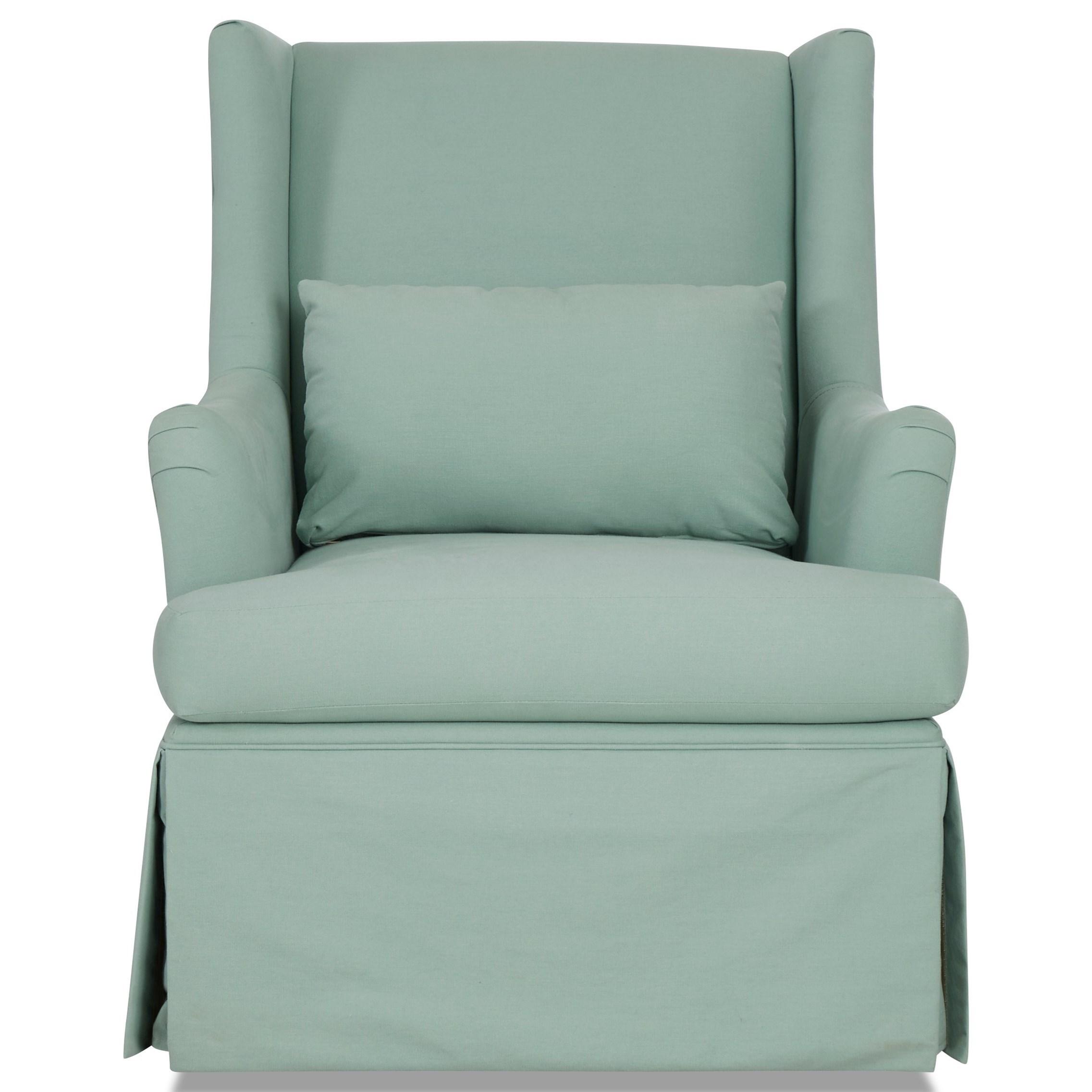 Birdie Swivel Glide Chair by Klaussner at Lapeer Furniture & Mattress Center