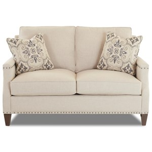Transitional Loveseat with Nailhead Studs (No Trim)
