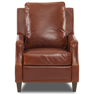 Transitional Power High Leg Reclining Chair with Nailheads