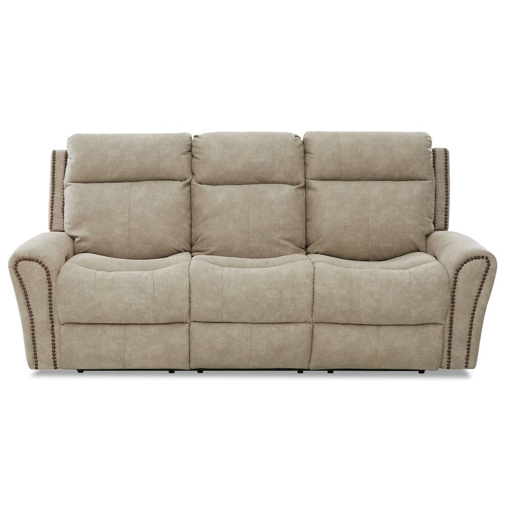 Brompton Pwr Recline Sofa w/ Pwr Headrest/Lumbar by Klaussner at Lapeer Furniture & Mattress Center