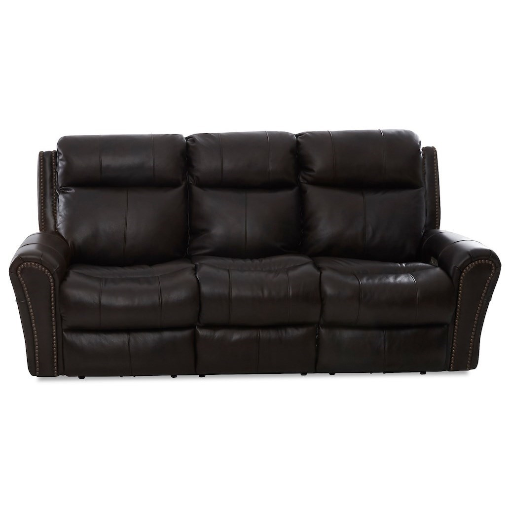 Brompton Pwr Recline Sofa w/ Pwr Headrest & Massage by Klaussner at Northeast Factory Direct