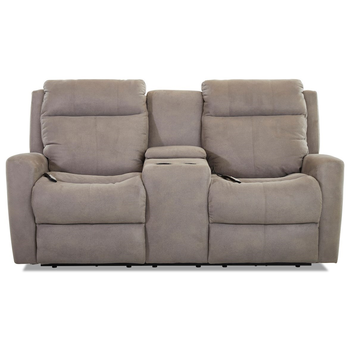 Brooks Reclining Loveseat w/console by Klaussner at Johnny Janosik