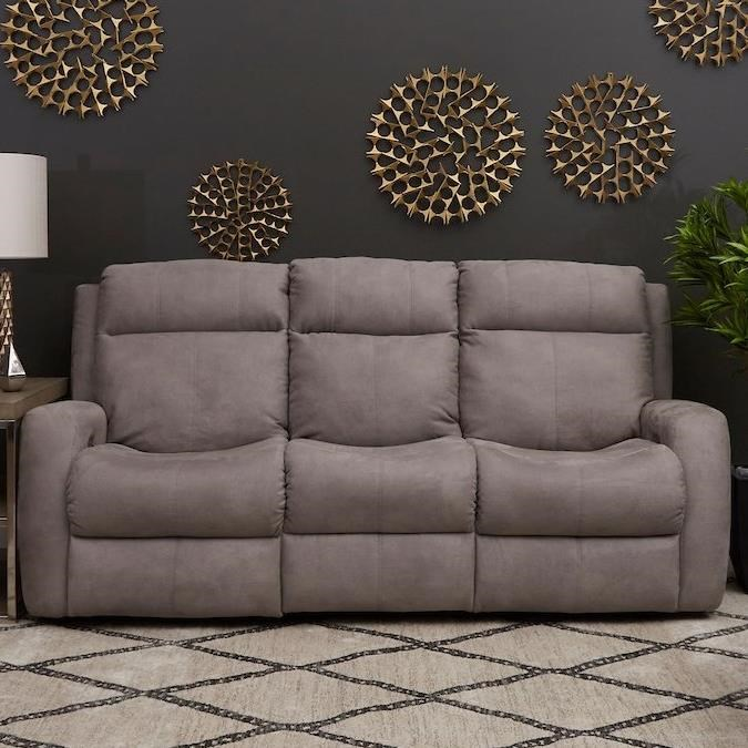 Brooks Power Reclining Sofa w/ Pwr Headrests by Klaussner at Northeast Factory Direct