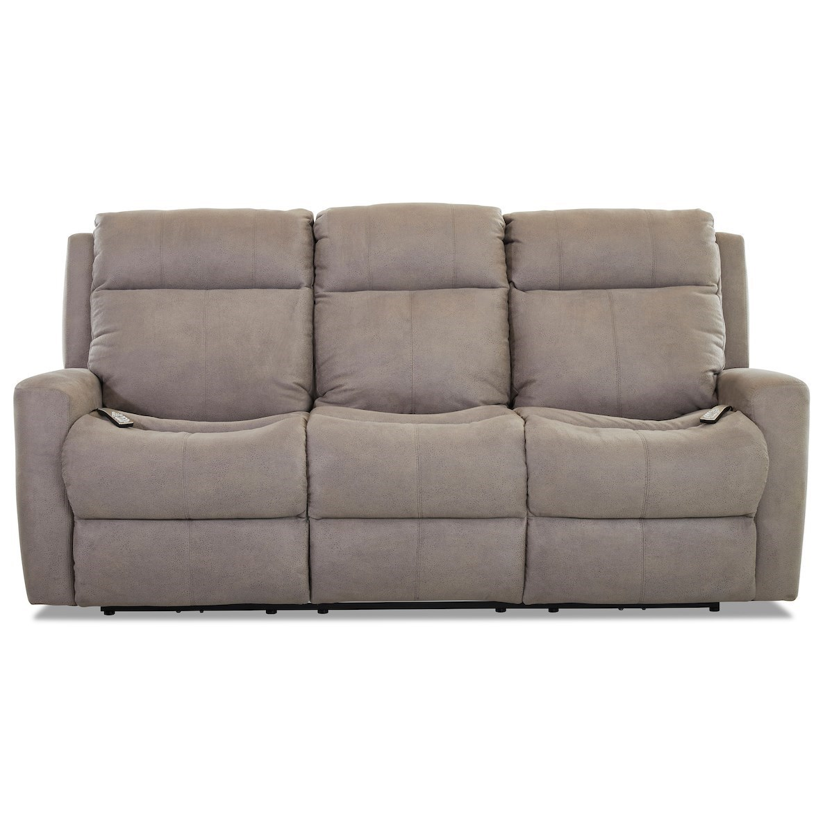 Brooks Power Reclining Sofa w/ Pwr Headrests by Klaussner at Johnny Janosik