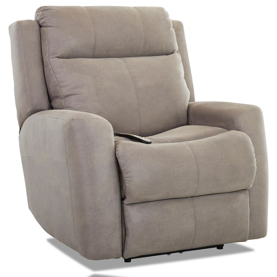 Brooks Power Rock Recliner w/ Pwr Headrest / Lumbar by Klaussner at H.L. Stephens