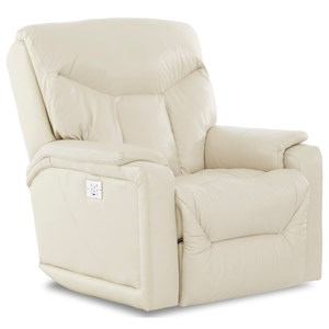 Casual Power Rocker Recliner with USB Charging Port and Bluetooth App