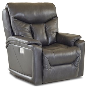 Casual Power Recliner with USB Charging Port, Bluetooth App, & Power Headrest