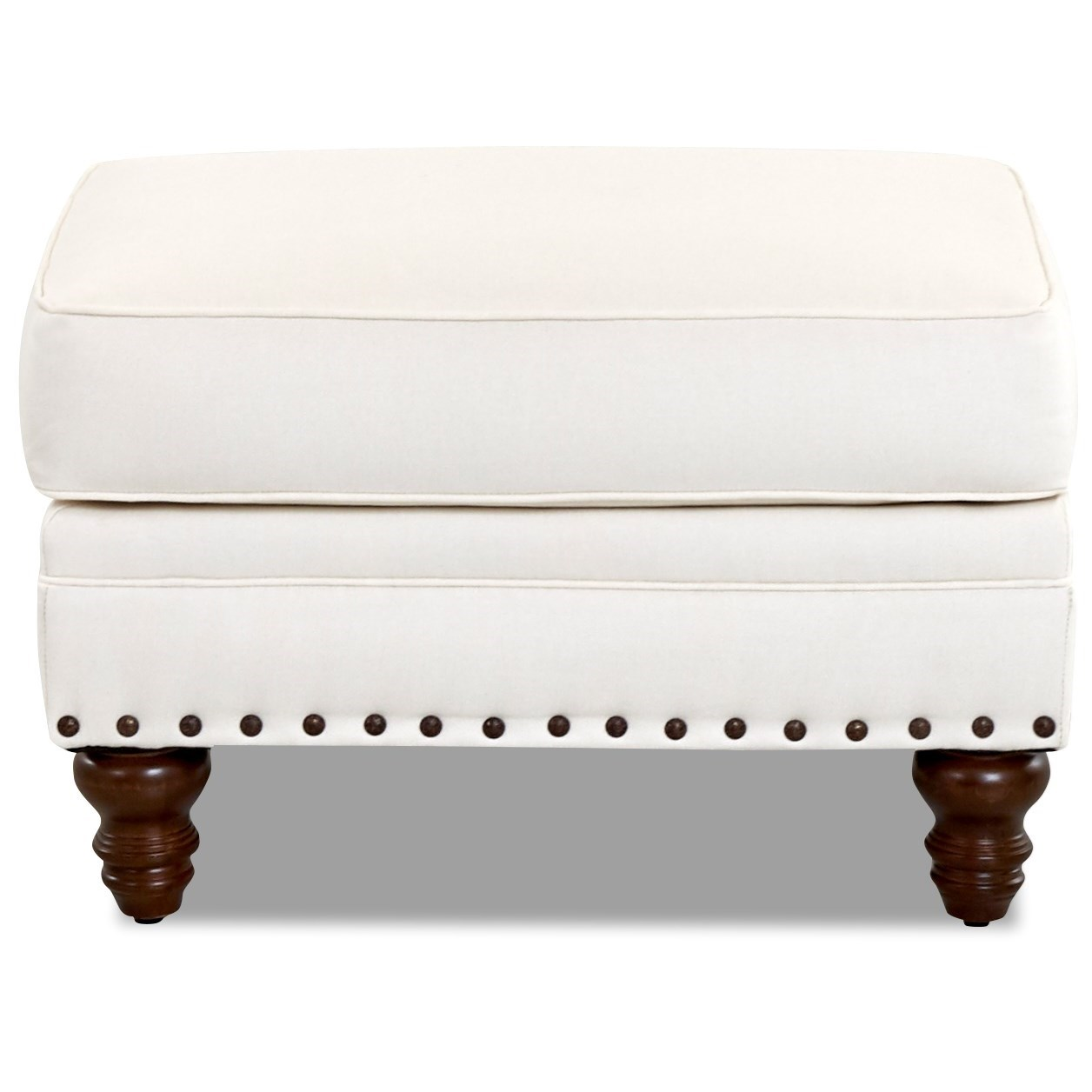 Burbank Ottoman w/ Nailheads by Klaussner at Northeast Factory Direct