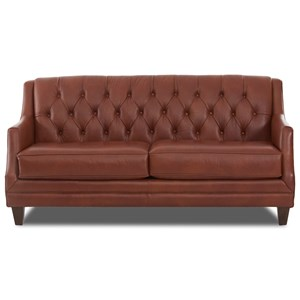 Traditional Tufted Leather Sofa