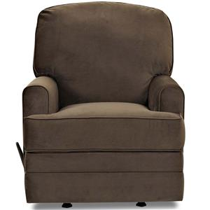 Casual Gliding Recliner with Track Arms
