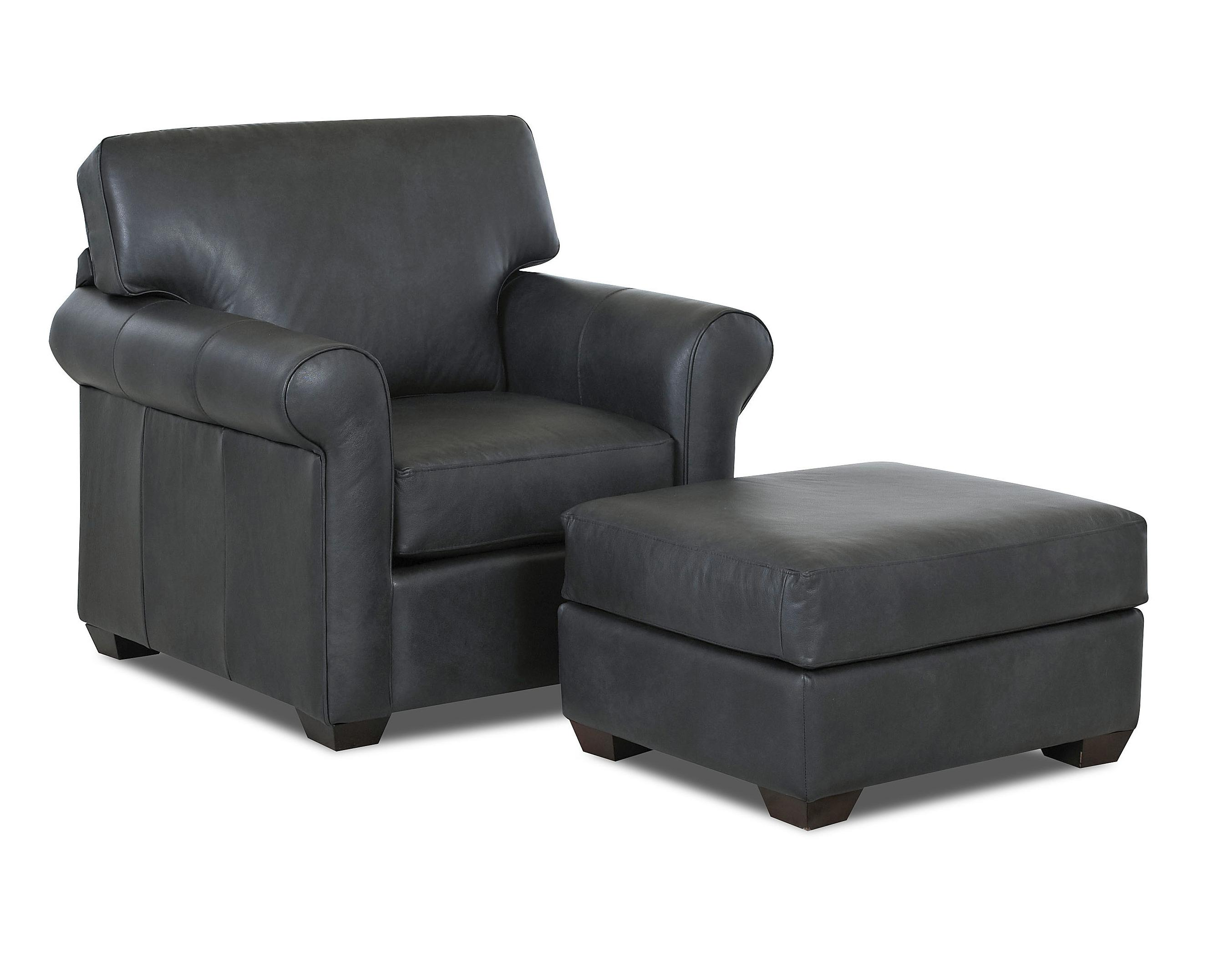 Canoy Transitional Chair and Ottoman Set by Klaussner at Johnny Janosik