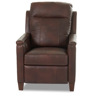 Power High Leg Recliner with Nailhead Trim and USB Charging Port