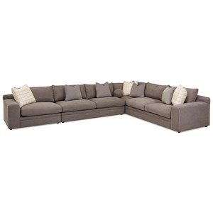 Casual Four Piece Sectional Sofa with LAF Chair