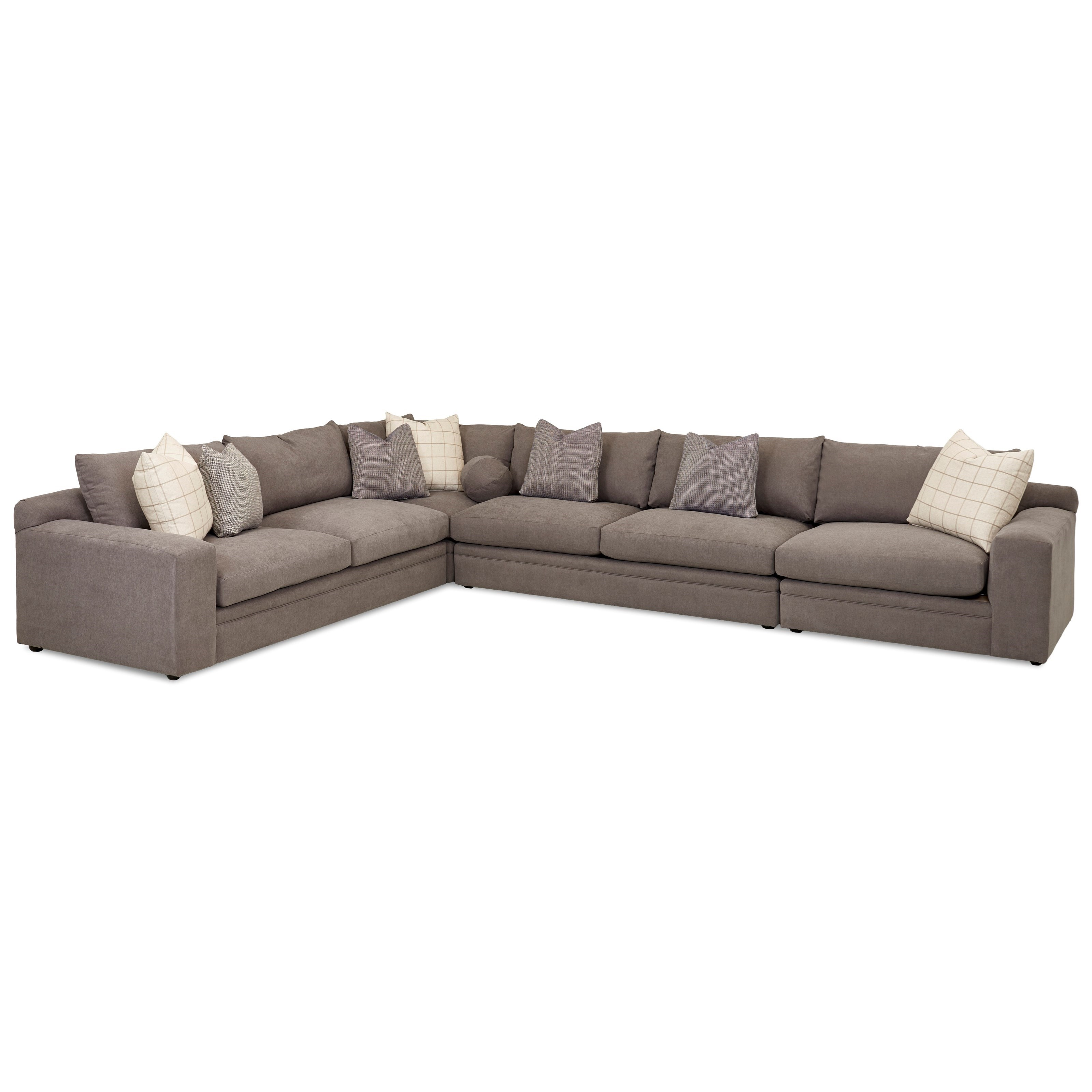 Casa Mesa 4 Pc Sectional Sofa w/ RAF Chair by Klaussner at Northeast Factory Direct