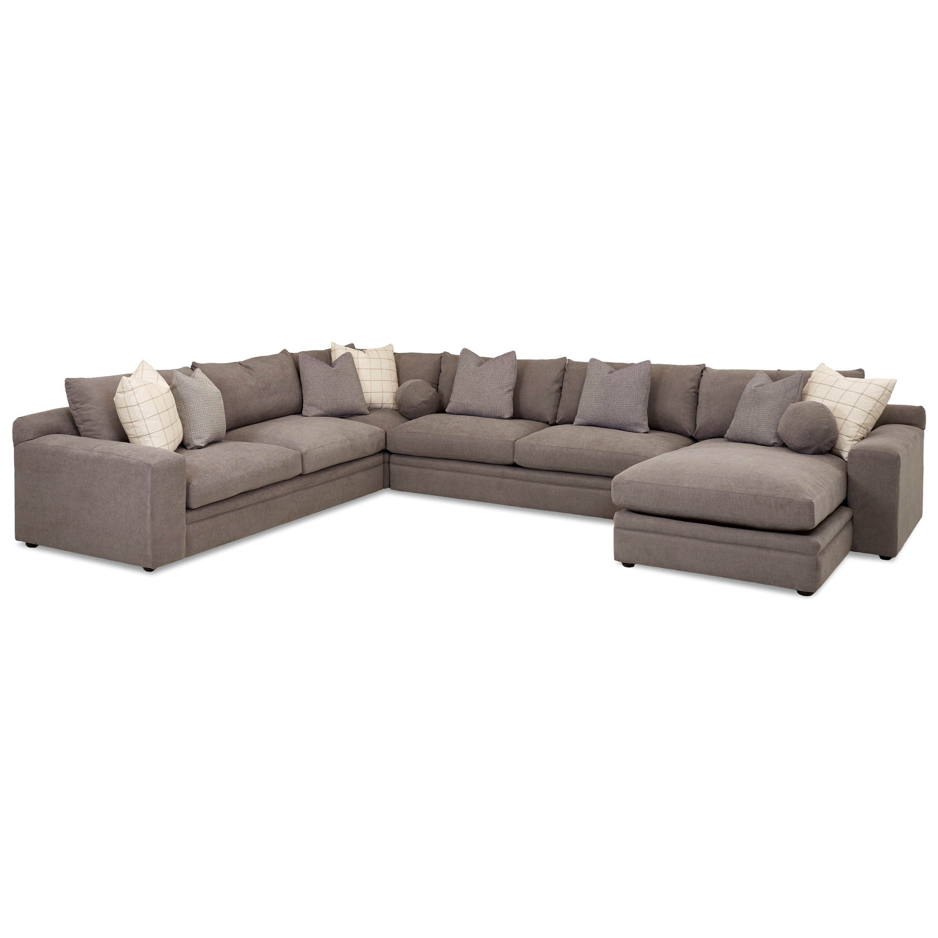 Casa Mesa 4 Pc Sectional Sofa w/ RAF Chaise by Klaussner at Johnny Janosik
