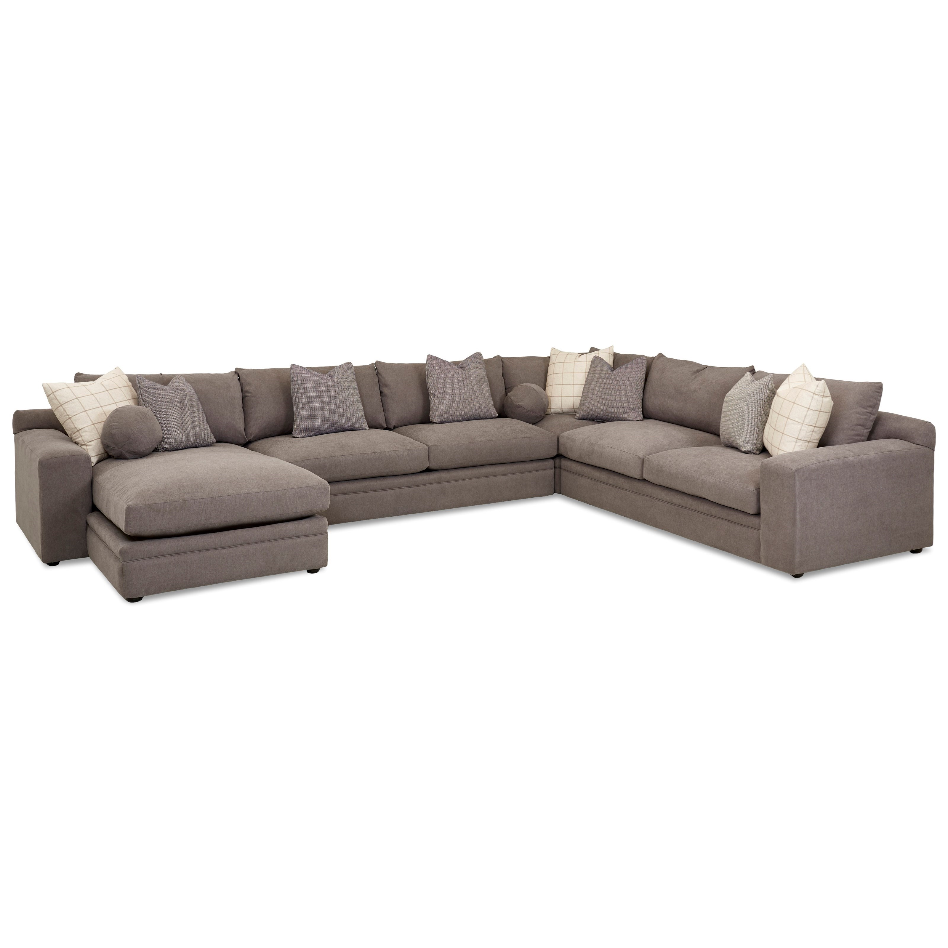 Casa Mesa 4 Pc Sectional Sofa w/ LAF Chaise by Klaussner at Northeast Factory Direct