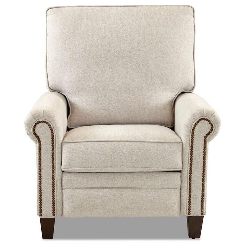 Cedar Point Power High Leg Reclining Chair by Klaussner at Pilgrim Furniture City