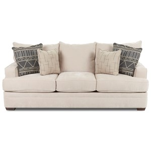 Casual Sofa with Square Track Arms