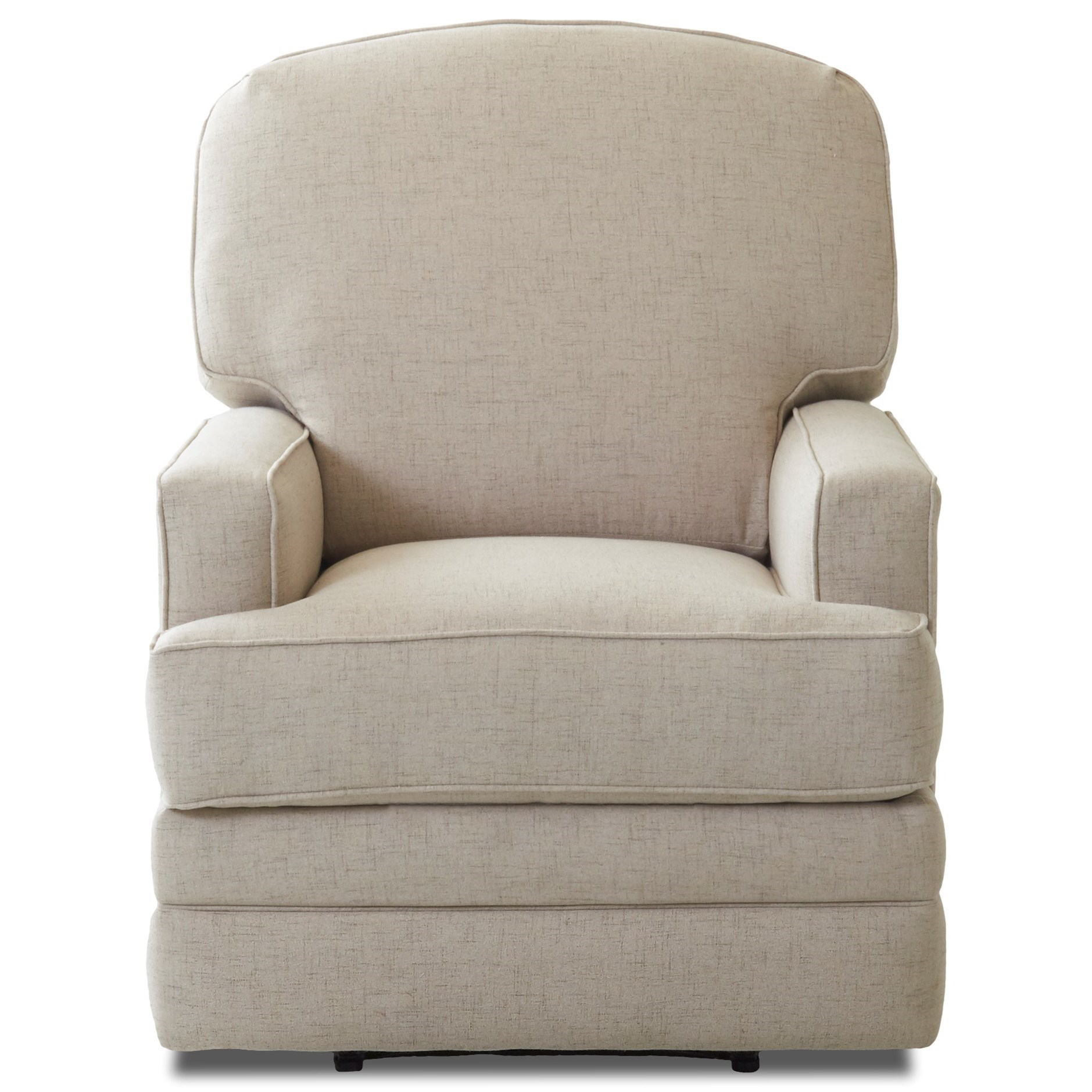 Chapman Casual Swivel Gliding Reclining Chair by Klaussner at Northeast Factory Direct