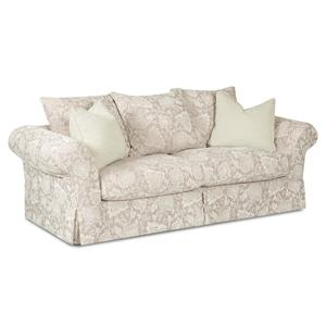 Klaussner Charleston Sofa with Scatterback Pillows