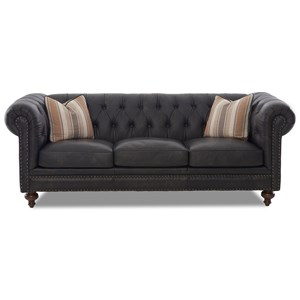 Traditional Chesterfield Sofa with Nailhead Trim