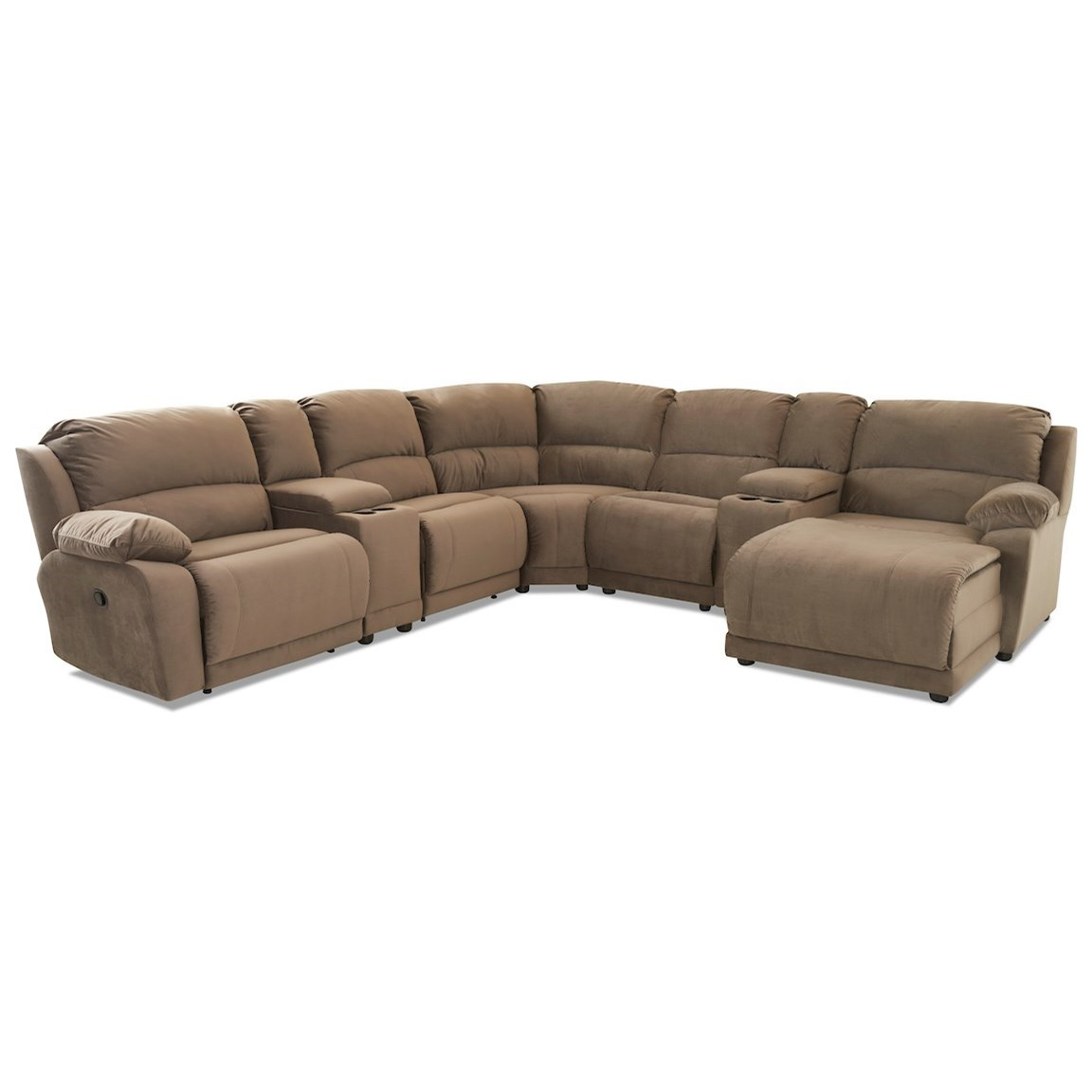 Charmed Seven Piece Sectional by Klaussner at Northeast Factory Direct
