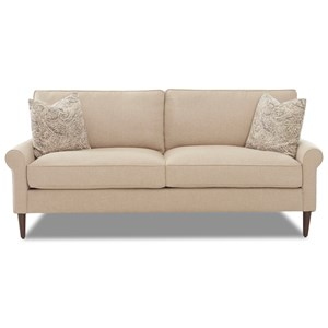 Casual Contemporary Style 2 over 2 Sofa with Square Tapered Legs