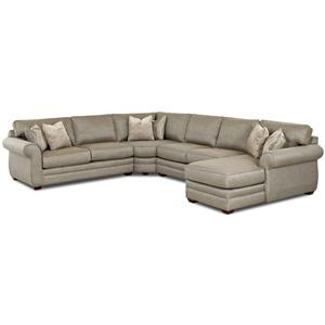 Transitional Sectional Sofa with Right Chaise