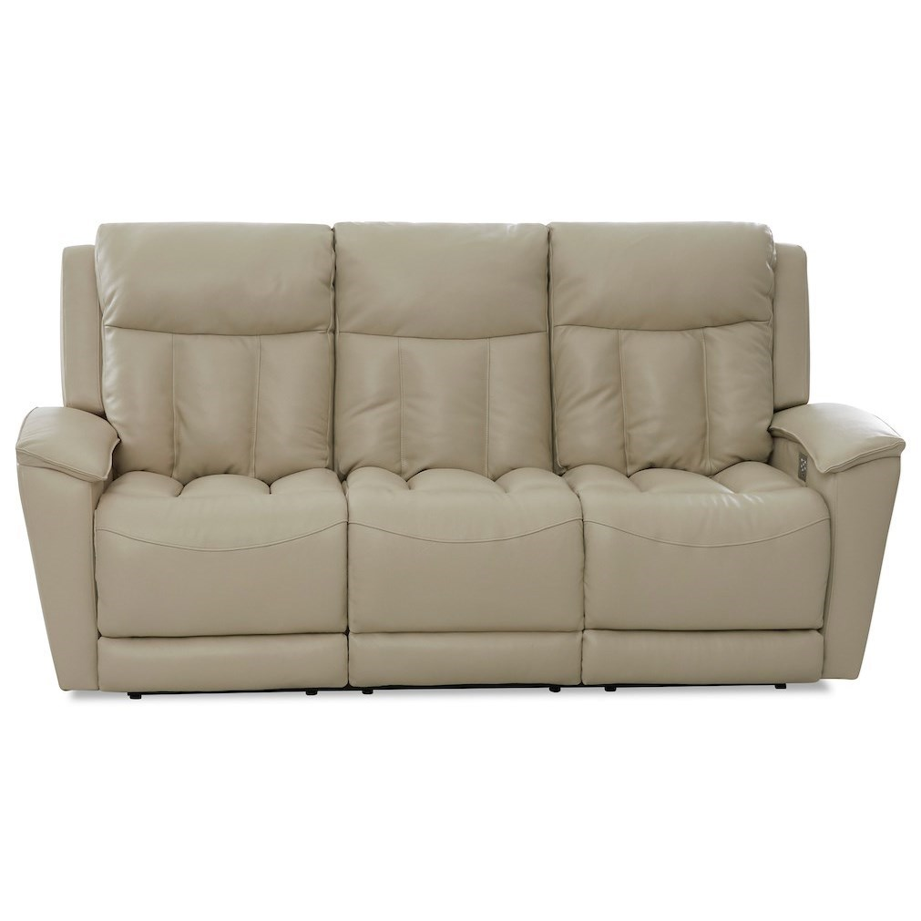 Clifford Power Reclining Sofa w/ Pwr Headrests by Klaussner at Northeast Factory Direct