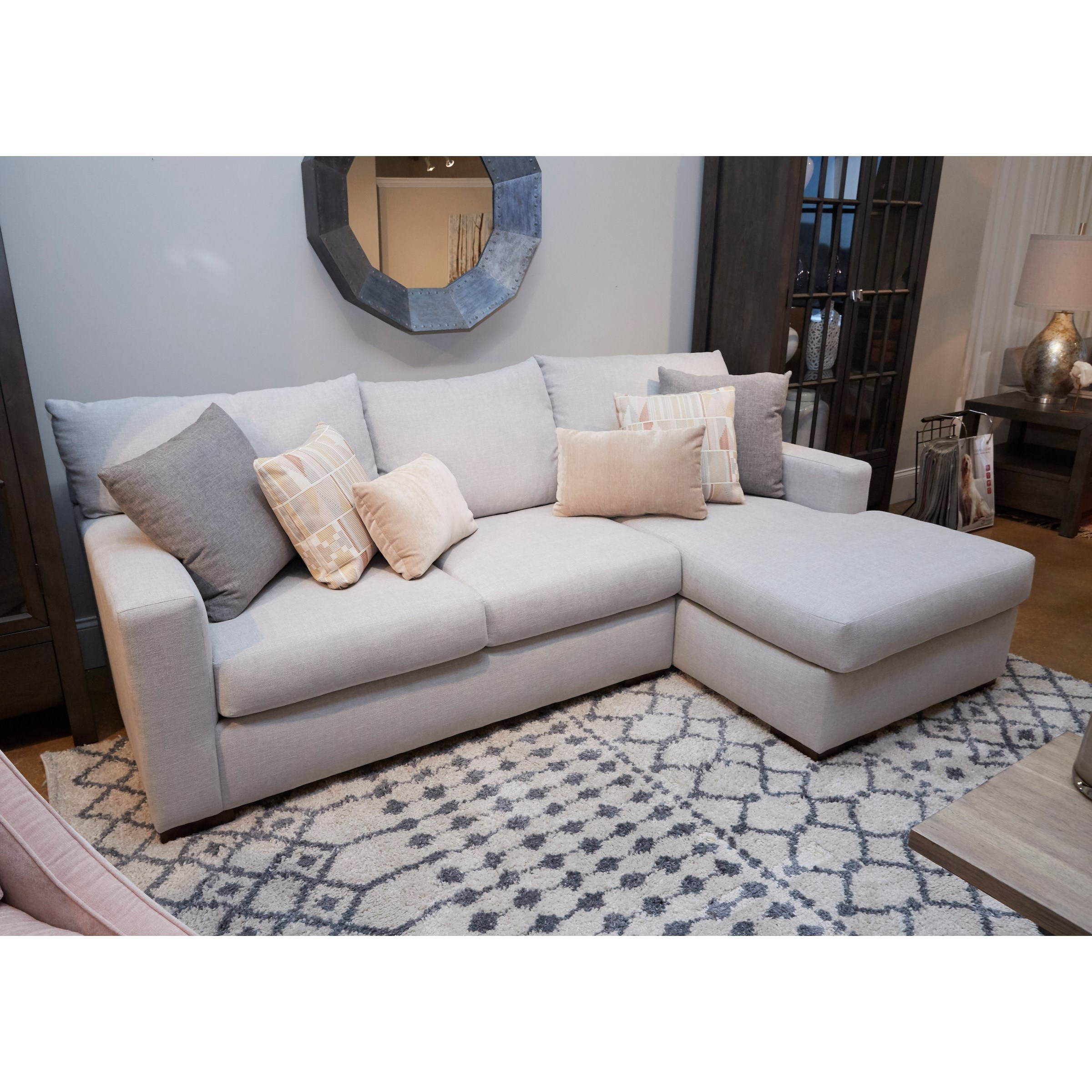Coley Sectional Sofa with Chaise by Klaussner at Miller Home