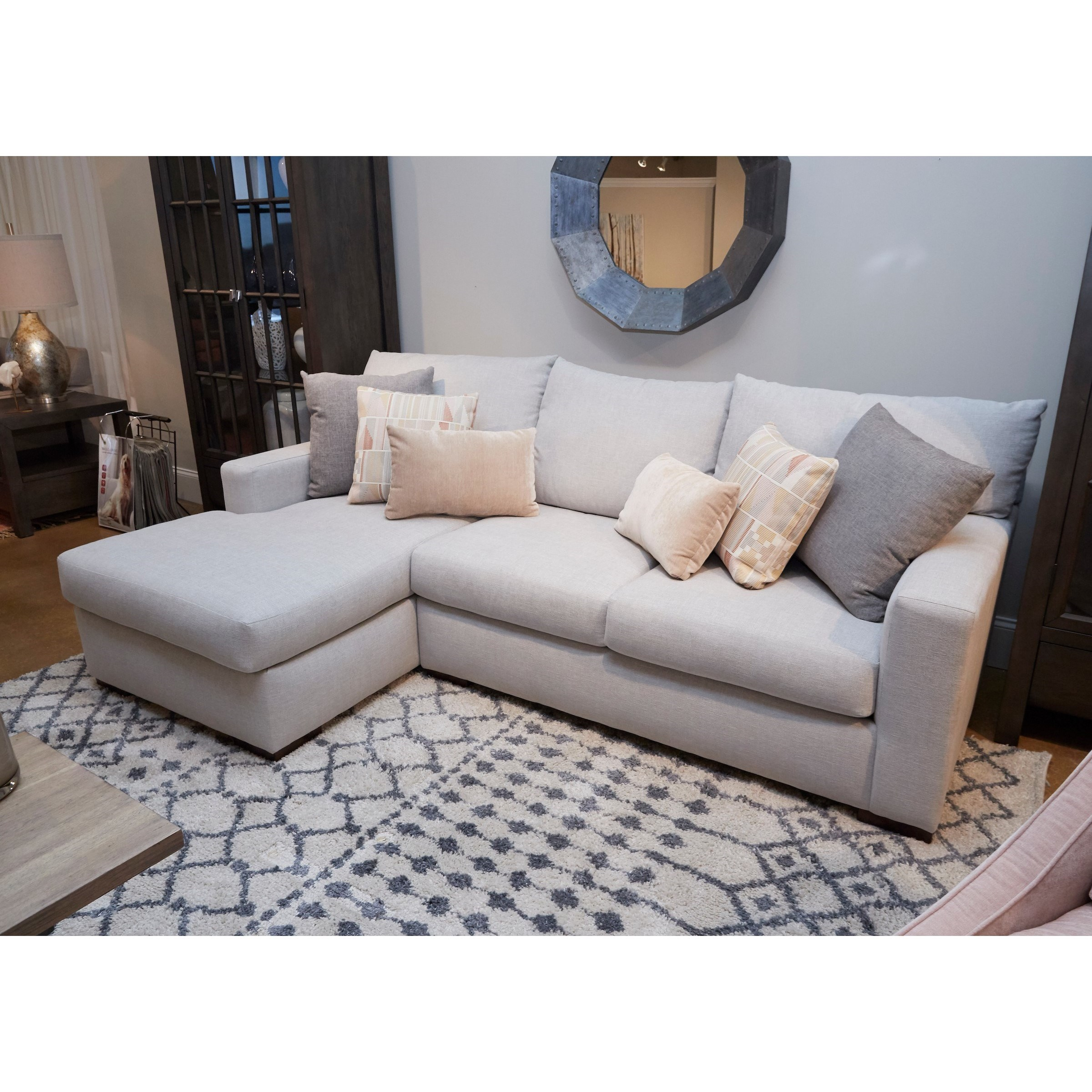 Coley Sectional Sofa with Chaise by Klaussner at Nassau Furniture and Mattress