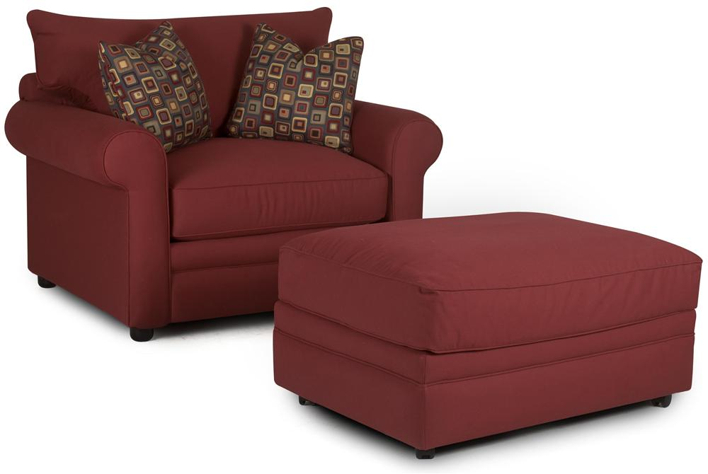 Comfy Chair and Ottoman by Klaussner at Lapeer Furniture & Mattress Center