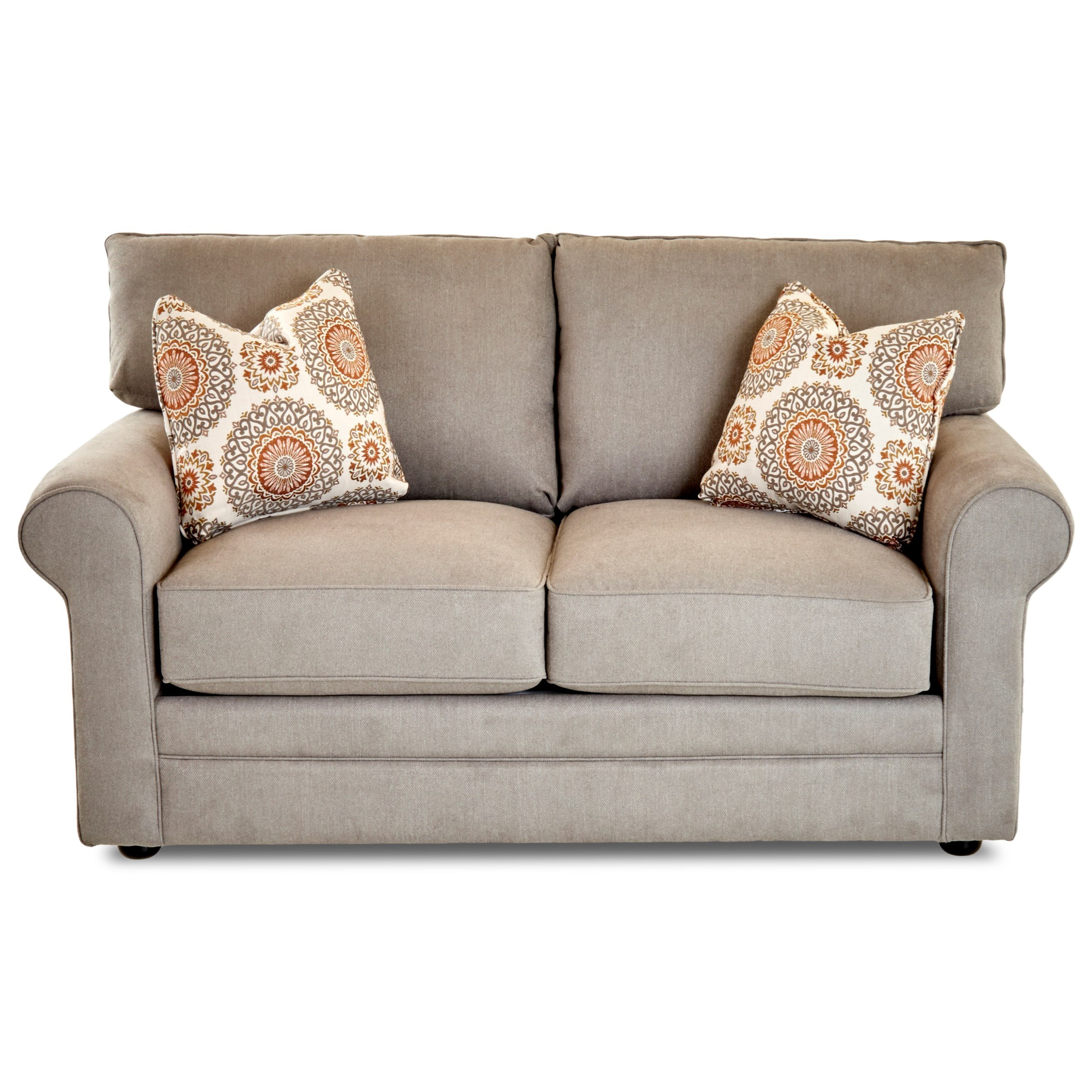 Comfy Loveseat by Klaussner at Lapeer Furniture & Mattress Center