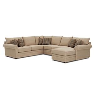 Casual Sectional Sofa with RAF Chaise