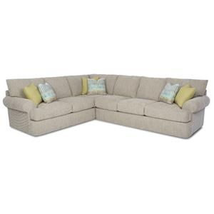 Casual 2 Piece Corner Sectional