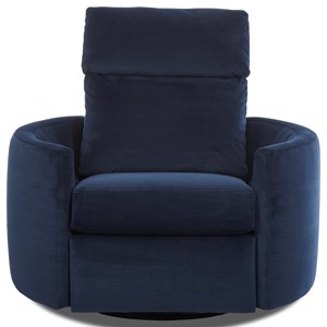 Contemporary Power Reclining Swivel Chair
