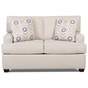 Contemporary Loveseat with Track Arms