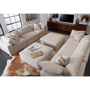 Contemporary Stationary Living Room Group