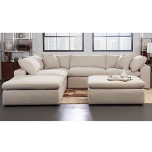Contemporary 5 Pc Modular Sectional Sofa